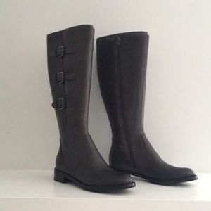 Ecco Leather Boot with Adjustable Calf